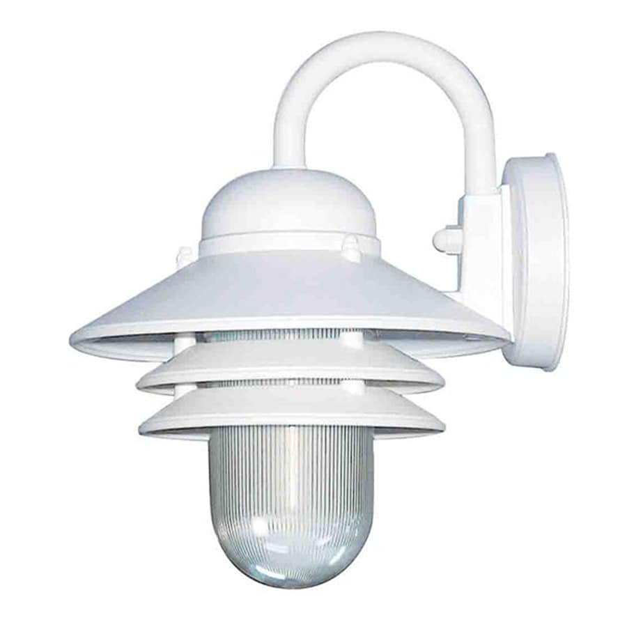 Sesser 10-in H White Outdoor Wall Light
