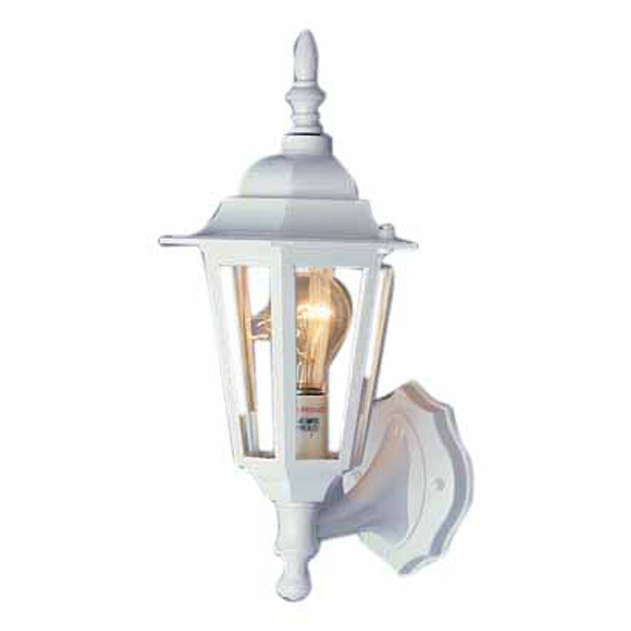 Tappen 15.5-in H White Outdoor Wall Light