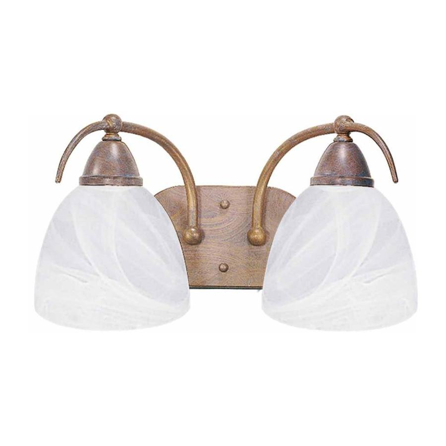 Madison 2-Light 8-in Prairie Rock Vanity Light