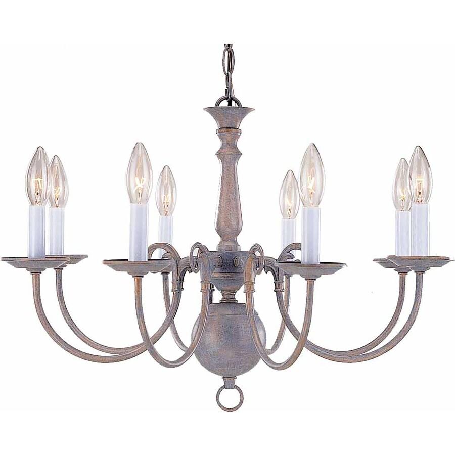 Raiford 23.5-in 8-Light Prairie Rock Candle Chandelier