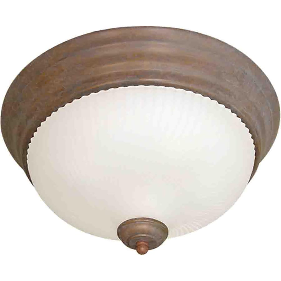 Bowden 11-in W Prairie Rock Flush Mount Light
