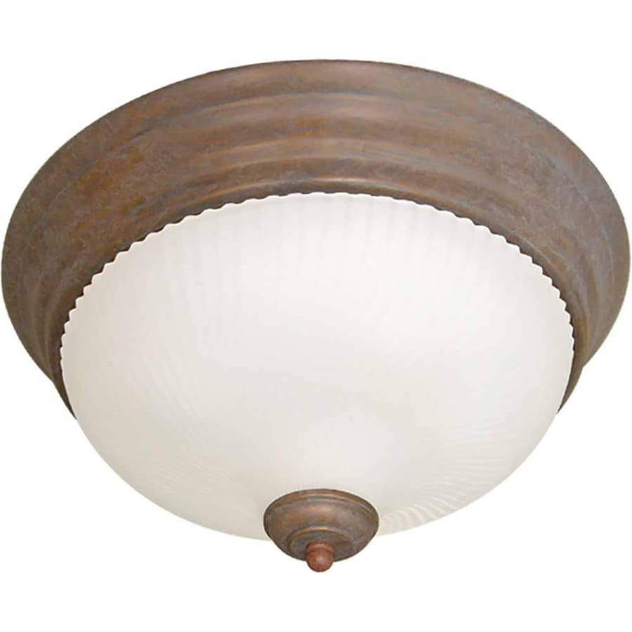 Bowden 13-in W Prairie Rock Flush Mount Light