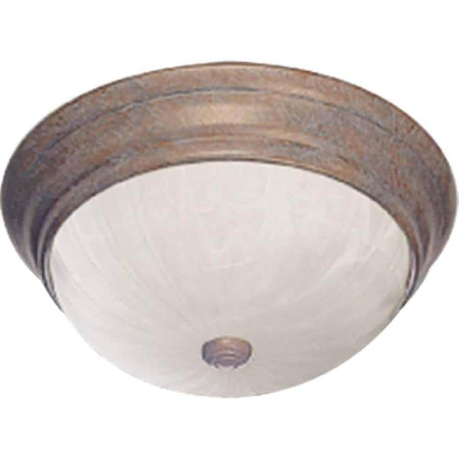 Laconia 13-in W Prairie Rock Flush Mount Light