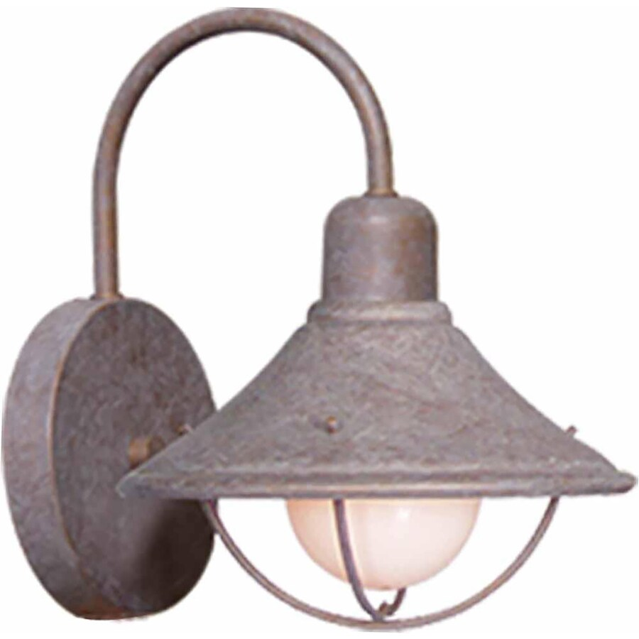 Vonormy 7.5-in H Prairie Rock Outdoor Wall Light