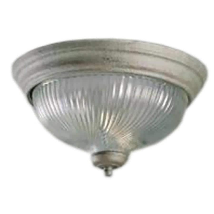 Amsden 11-in W Platinum Rust Flush Mount Light