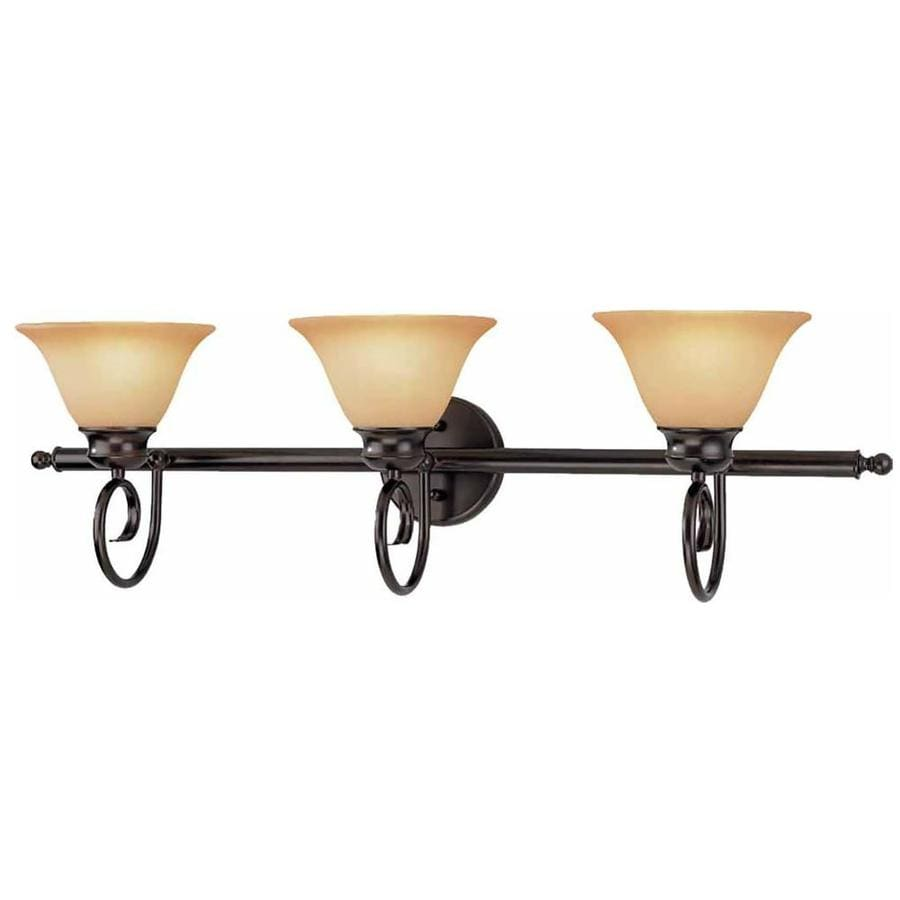 Techny 3-Light 10.75-in Antique Bronze Vanity Light