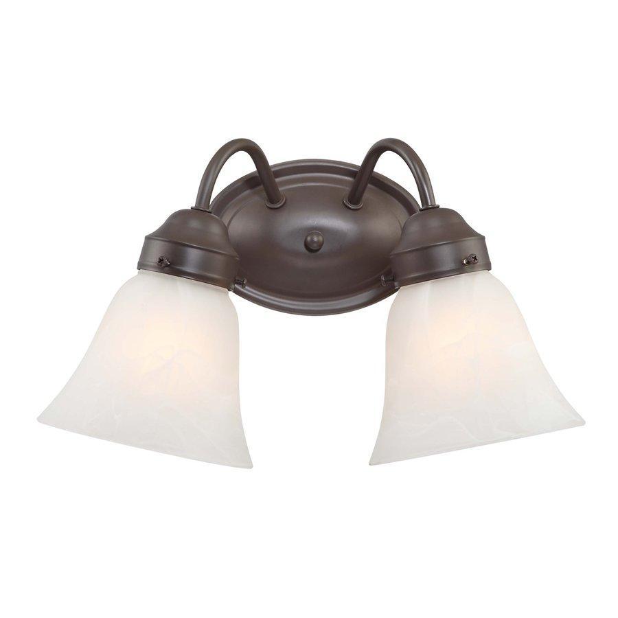 Pierron 2-Light 8.25-in Antique Bronze Vanity Light