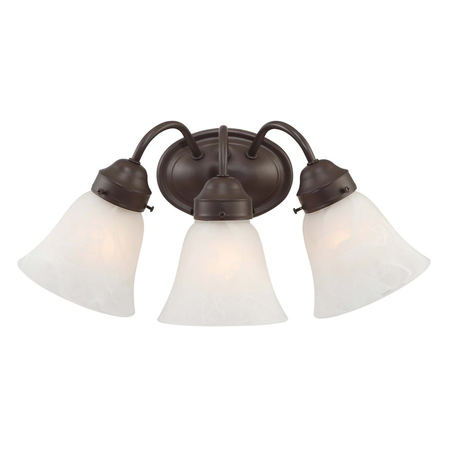 Pierron 3-Light 8-in Antique Bronze Vanity Light