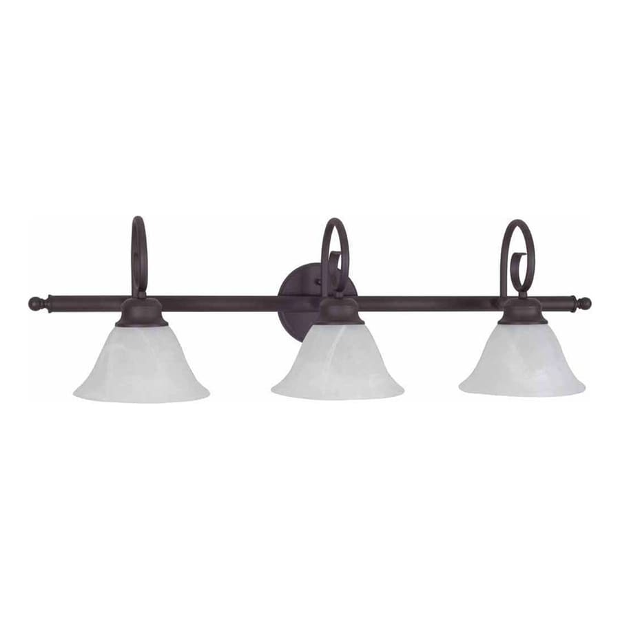 Archie 3-Light 10.75-in Antique Bronze Vanity Light