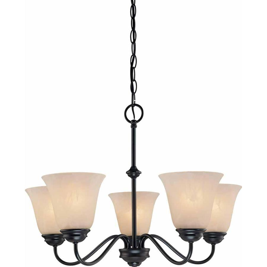 Volume Lighting Hammond 5 Light Antique Bronze Transitional Chandelier In The Chandeliers Department At Lowes Com