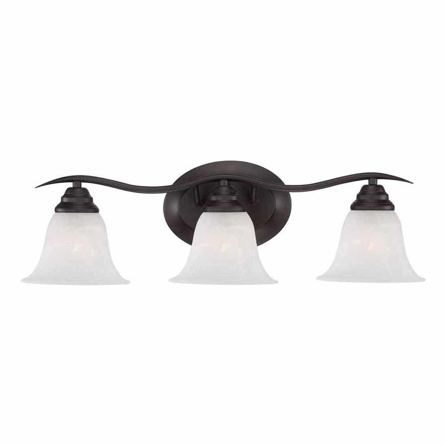 Sunray 3-Light 8.25-in Antique Bronze Vanity Light