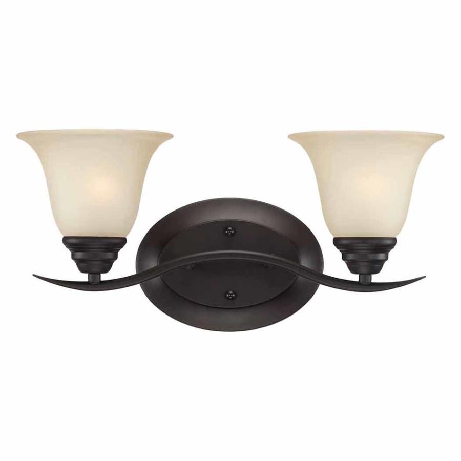 Altro 2-Light 8.25-in Antique Bronze Vanity Light