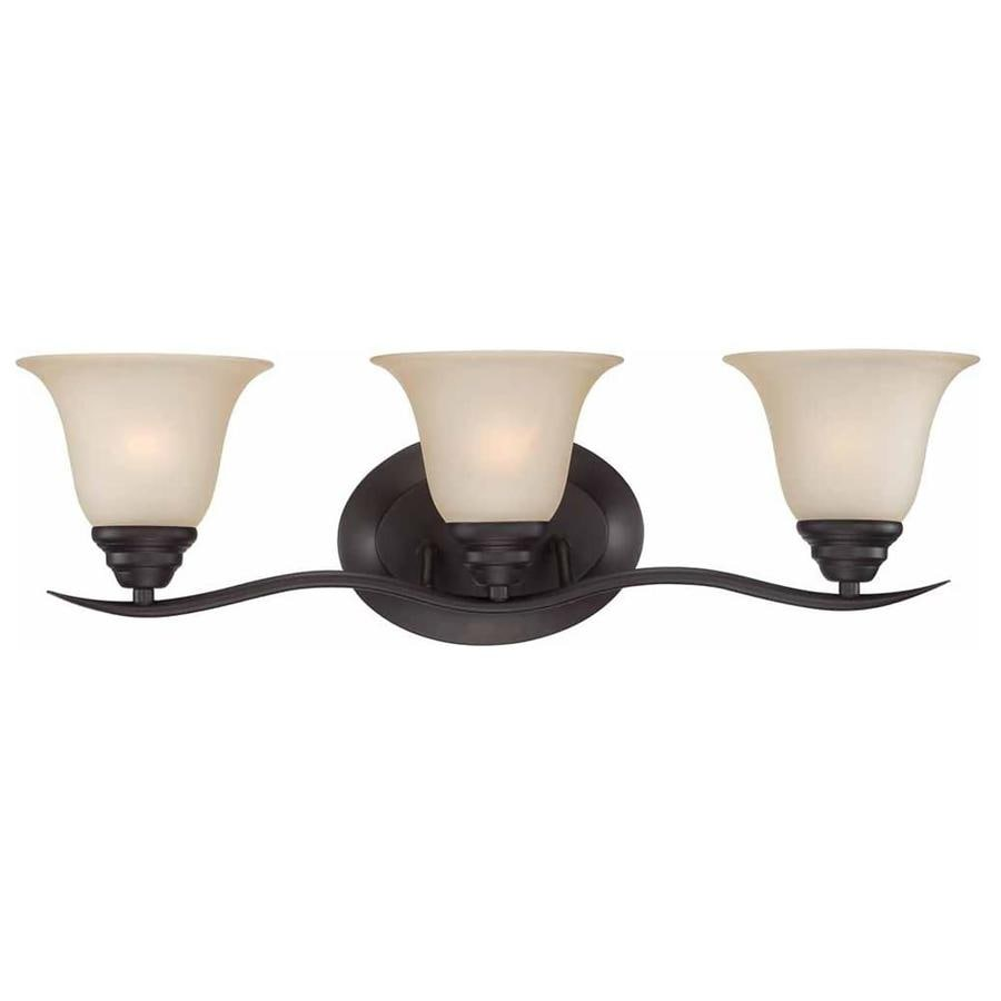 Altro 3-Light 8.25-in Antique Bronze Vanity Light