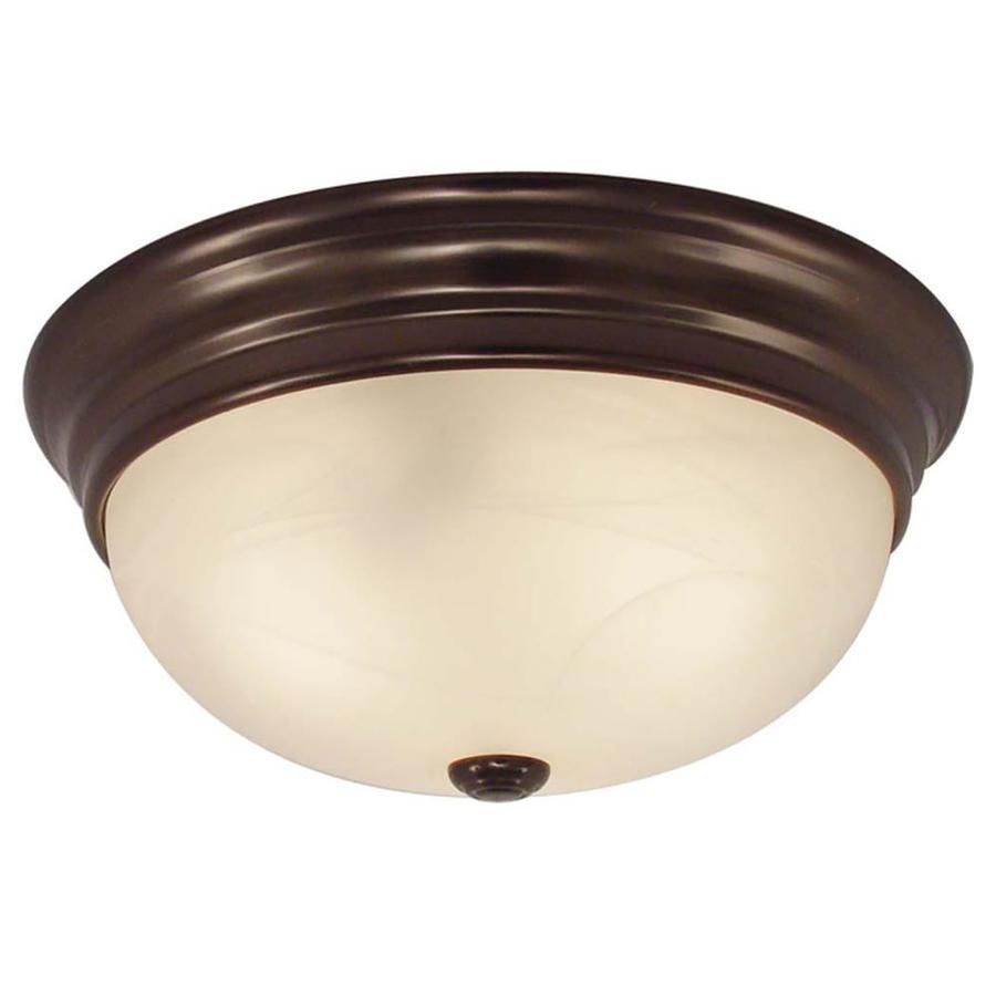 Oreana 11-in W Antique Bronze Ceiling Flush Mount Light