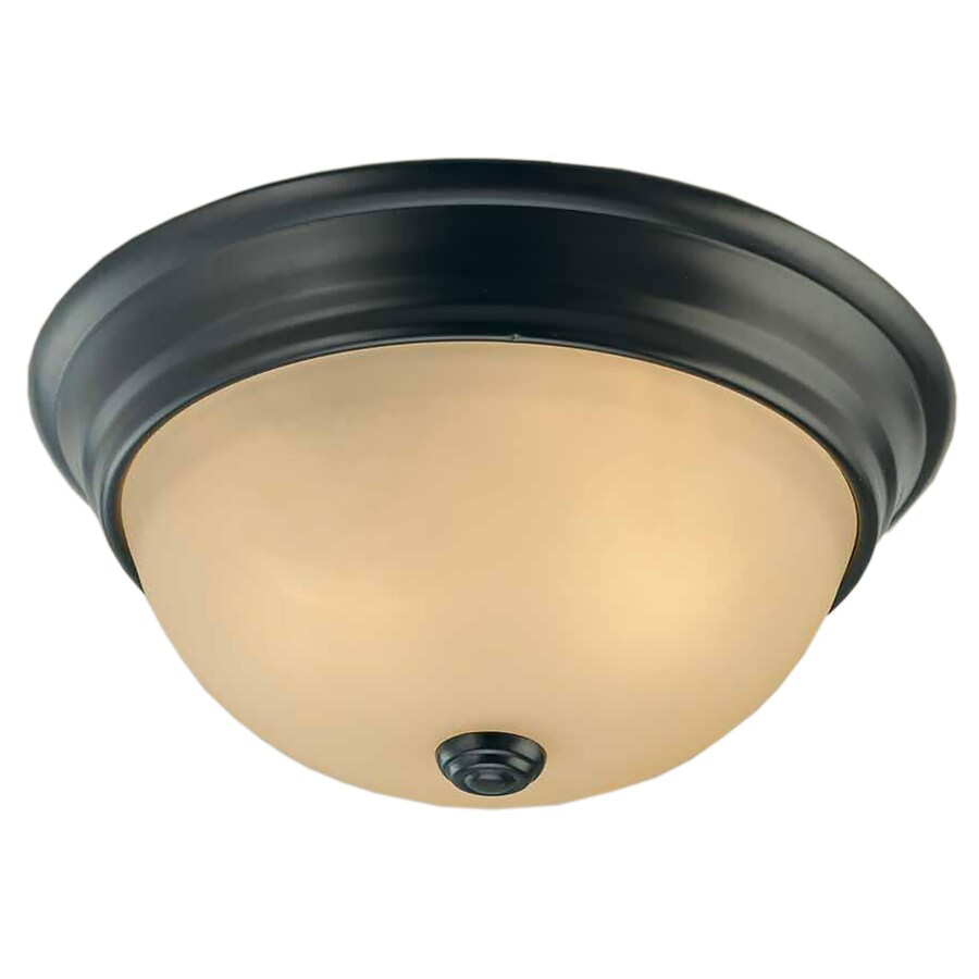 Clutier 13-in W Antique Bronze Standard Flush Mount Light