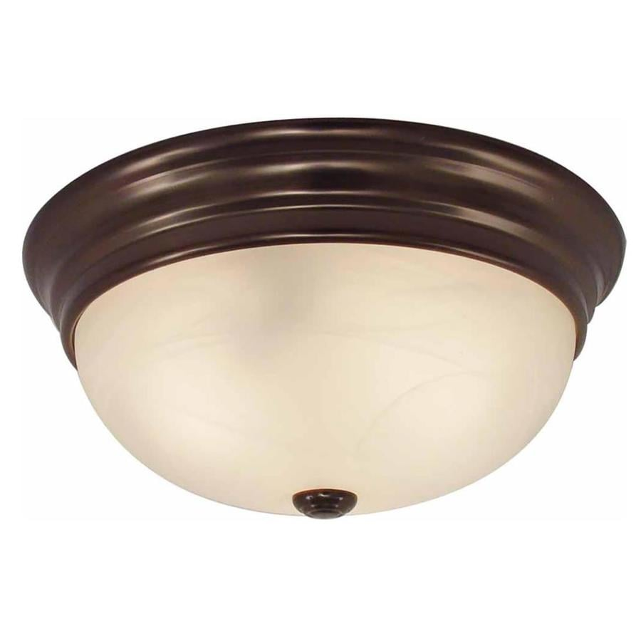 Oreana 13-in W Antique Bronze Flush Mount Light