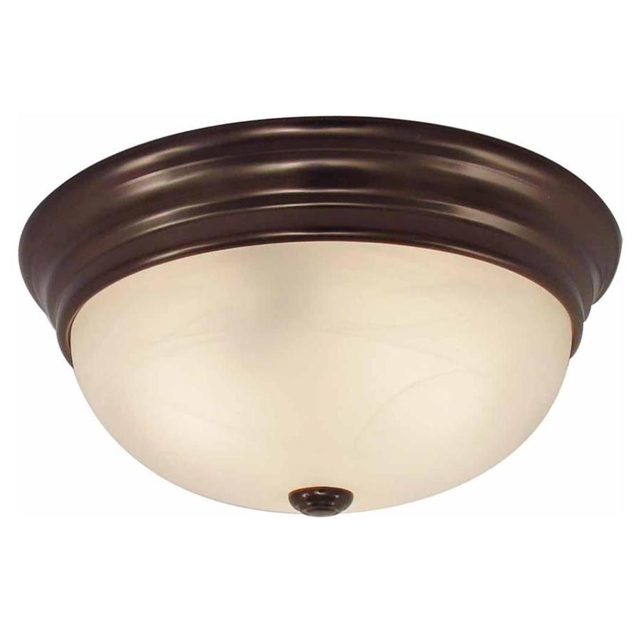 Oreana 15-in W Antique Bronze Flush Mount Light