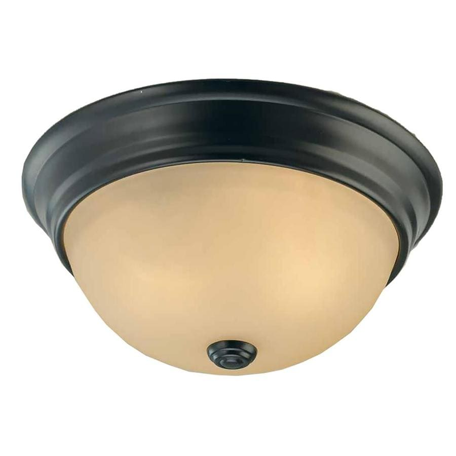 Clutier 11-in W Antique Bronze Flush Mount Light