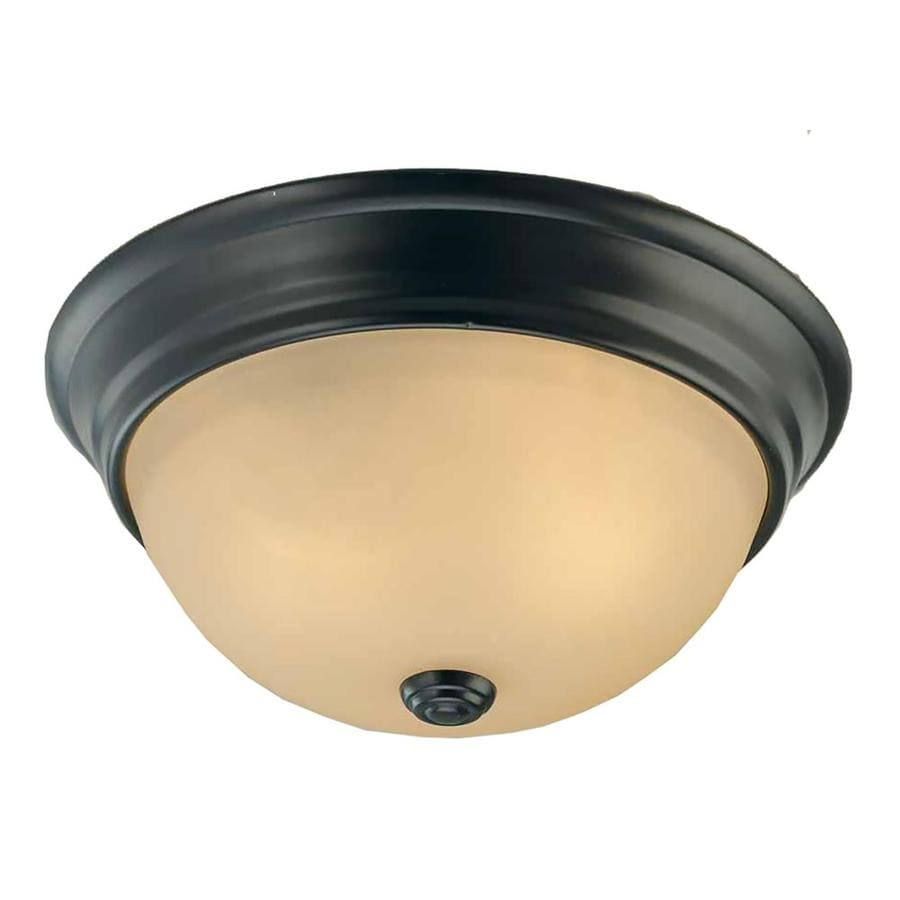Clutier 13-in W Antique Bronze Flush Mount Light