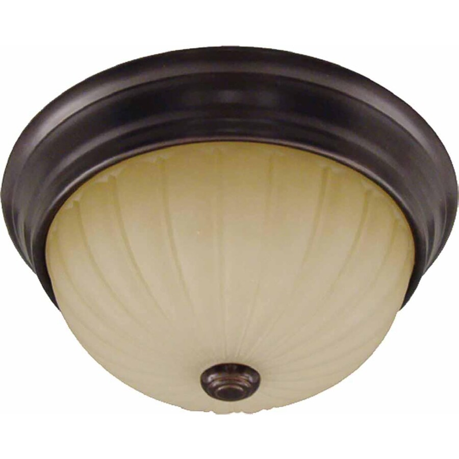 Cullen 11-in W Antique Bronze Flush Mount Light