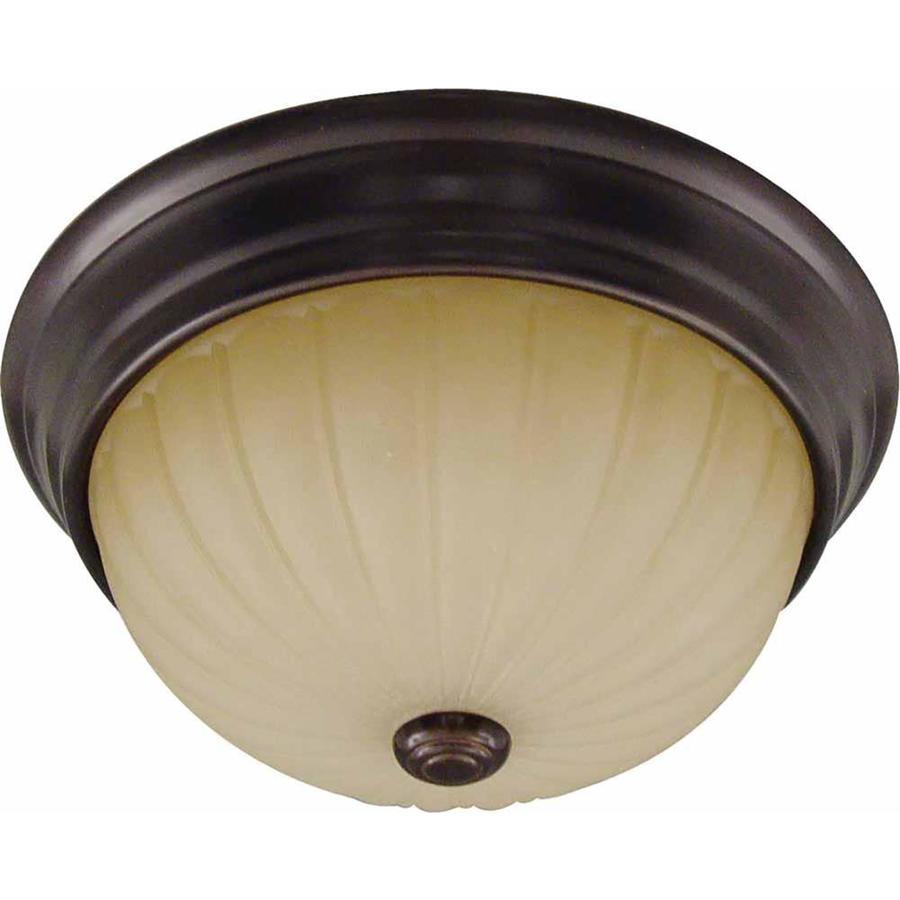Cullen 13-in W Antique Bronze Flush Mount Light