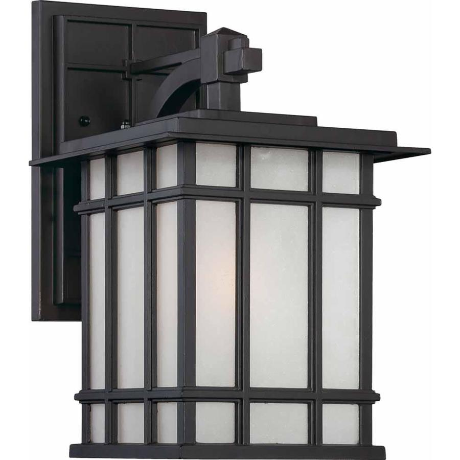 Arzu 9-in W 1-Light Antique Bronze Directional Hardwired Wall Sconce