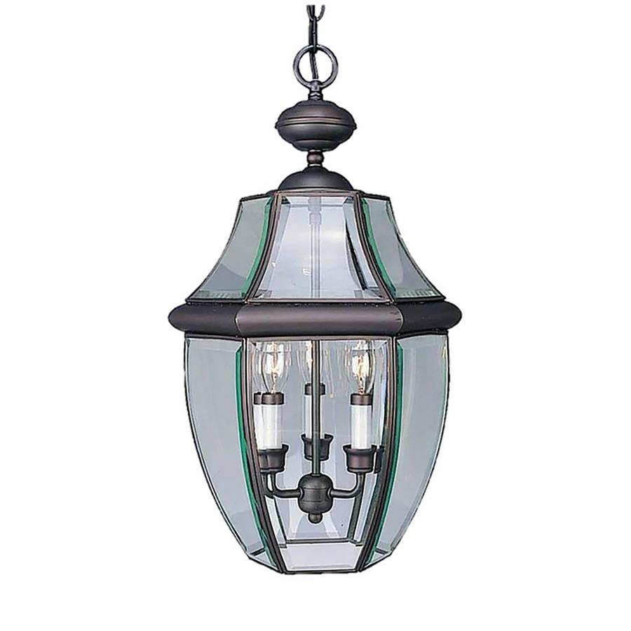 Bylas 21.5-in Antique Bronze Outdoor Pendant Light