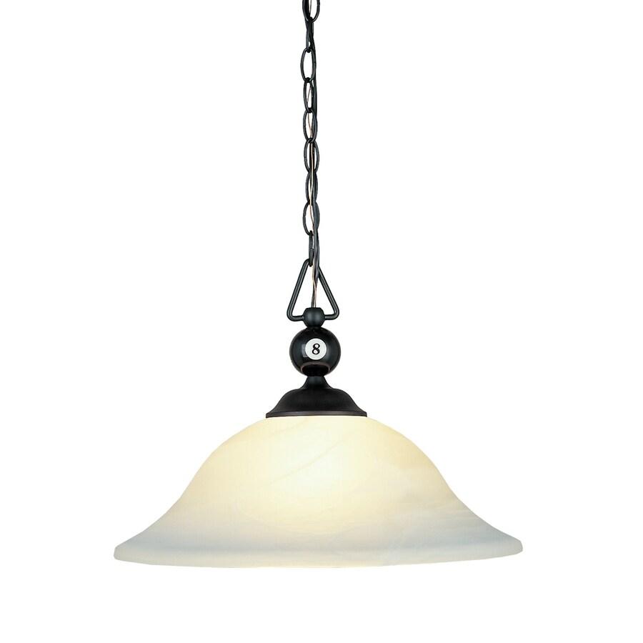 Westmore Lighting 17-in Matte Black Novelty Single Bell Pendant