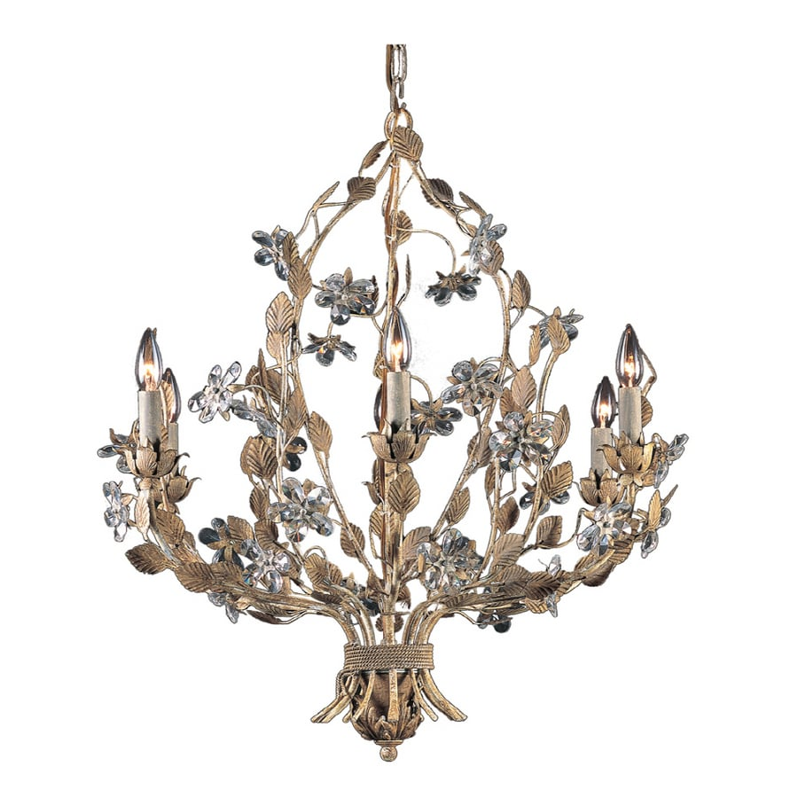 Westmore Lighting 6-Light Weathered Beige Chandelier At