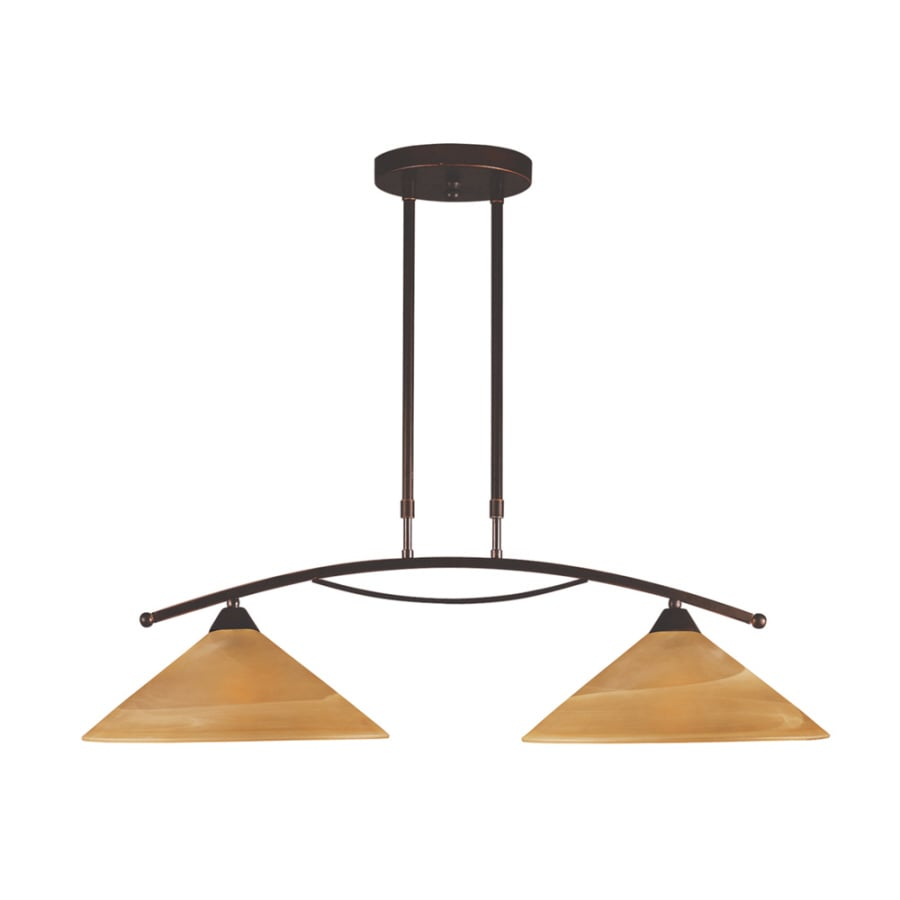Oil Rubbed Bronze Kitchen Island Lighting Shop Westmore Lighting 31 In W 2 Light Oiled Bronze Kitchen Island