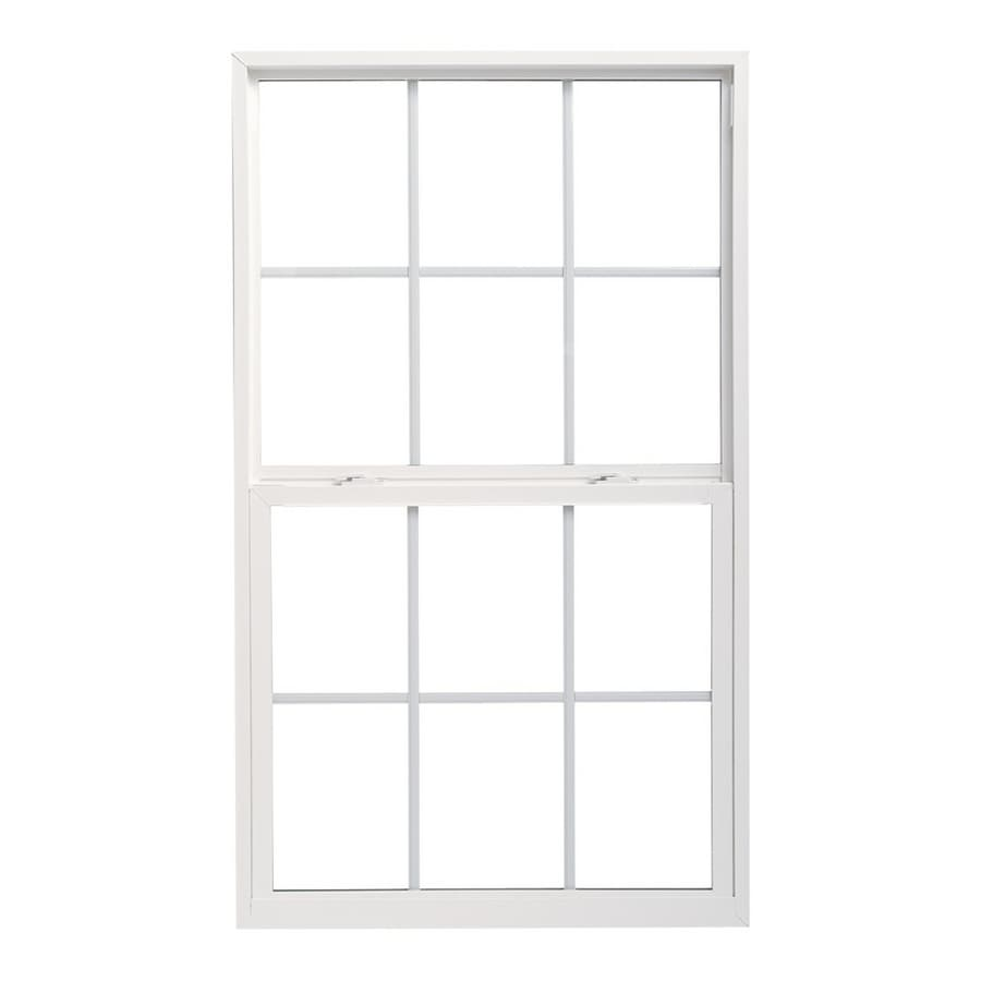 Pella 32X48 ThermaStar by Pella Single Hung High Performance Vinyl 10 Series Grid Insulated Glass White with Screen