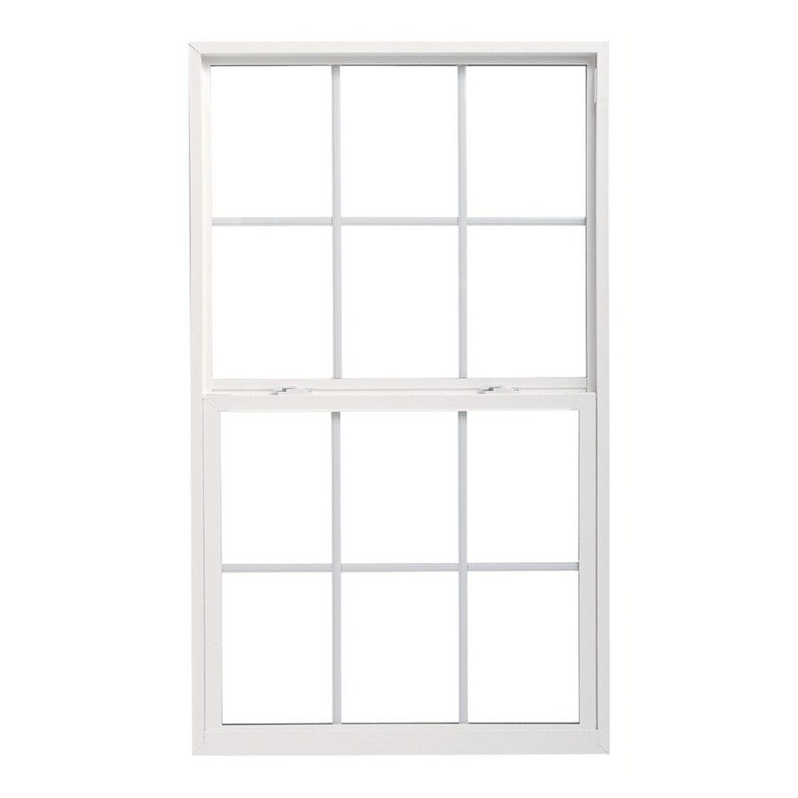 Pella 36X48 ThermaStar by Pella Single Hung High Performance Vinyl 10 Series Grid Low E White with Screen