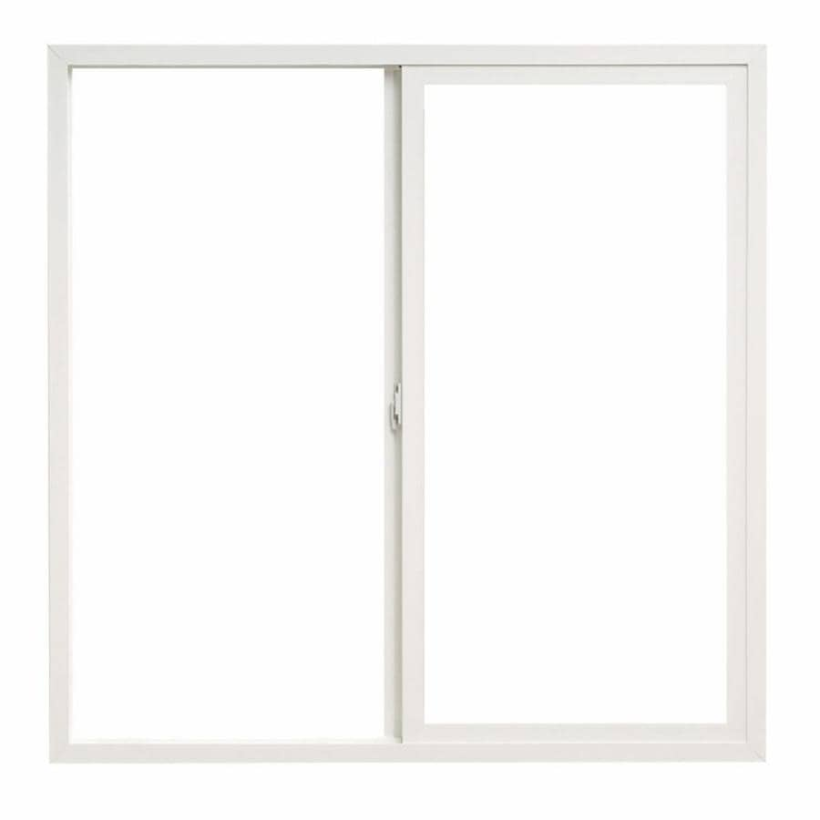ThermaStar by Pella Left-Operable Vinyl Double Pane Annealed Sliding Window (Rough Opening: 48-in x 48-in; Actual: 47.5-in x 47.5-in)