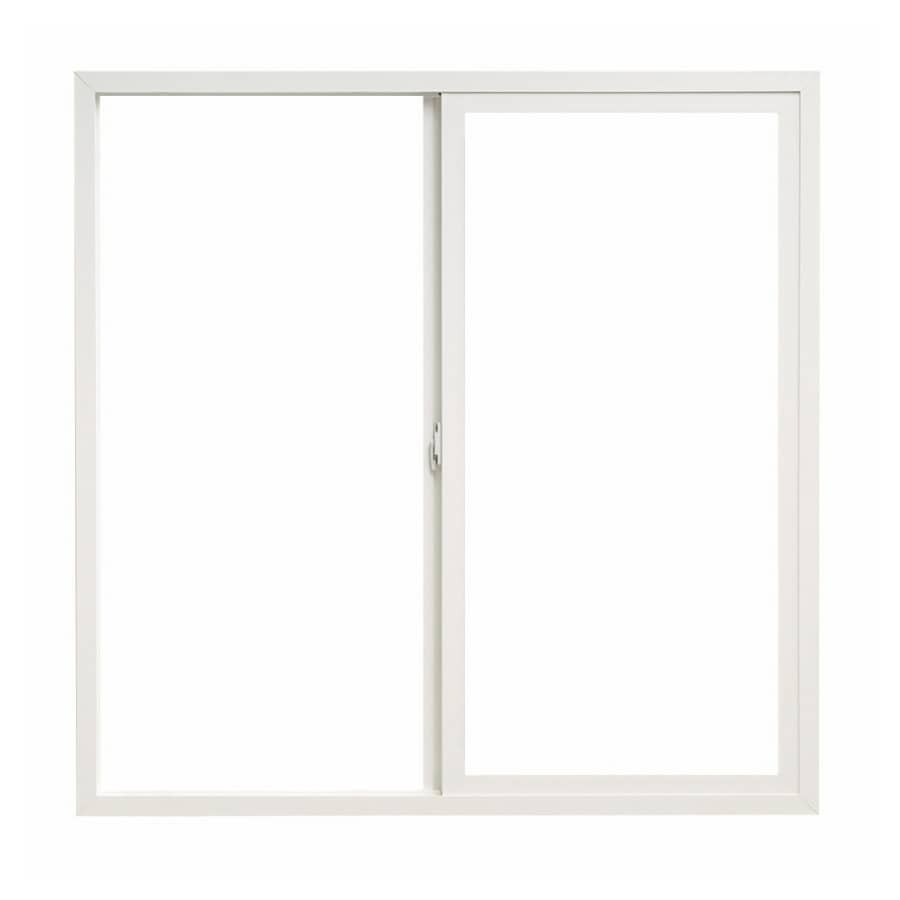 Pella 72X48 ThermaStar by Pella Sliding Window Vinyl 10 Series Clear Low E White with Screen