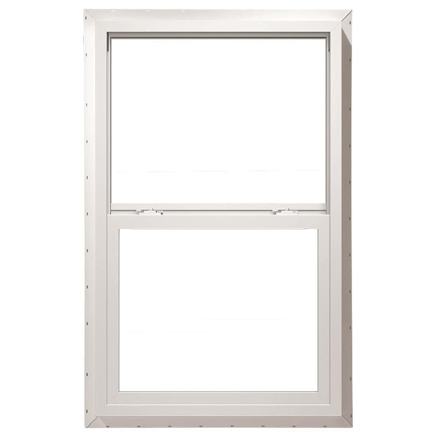 Pella 32X60 ThermaStar by Pella Single Hung Vinyl 10 Series Clear Insulated Glass White with Screen