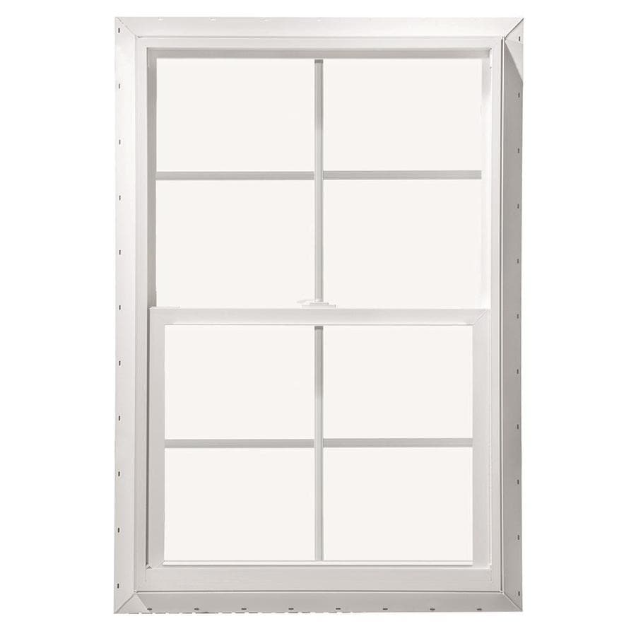 Pella 28X52 ThermaStar by Pella Single Hung Vinyl 10 Series Grid Insulated Glass White with Screen