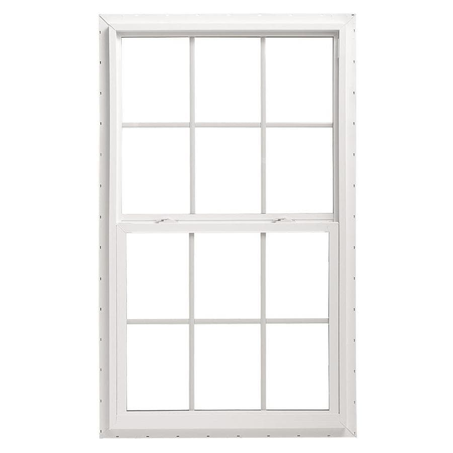 Pella 36X36 ThermaStar by Pella Single Hung Vinyl 10 Series Grid Insulated Glass White with Screen