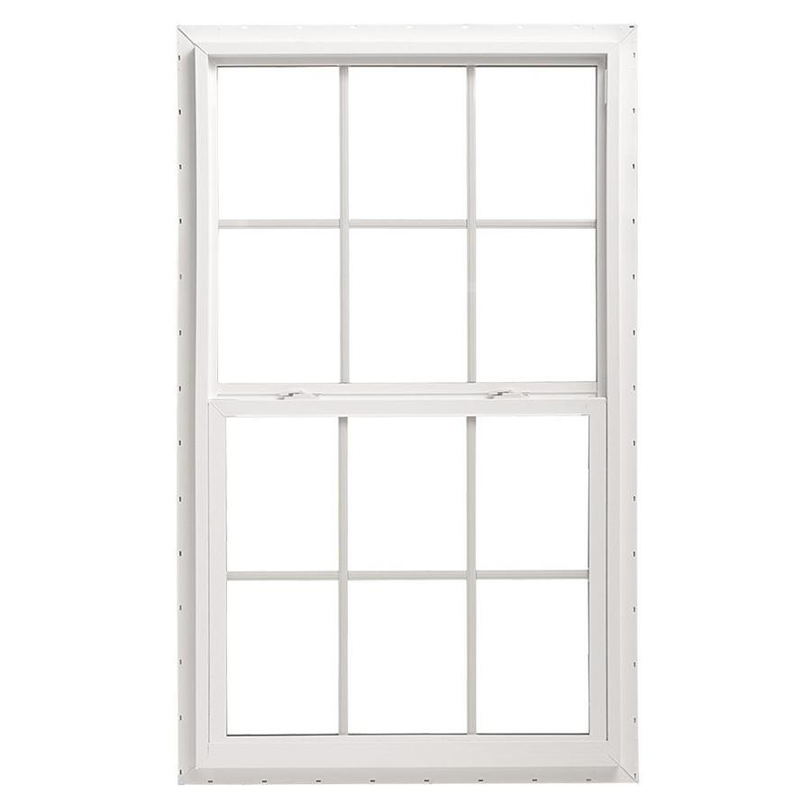 Pella 36X48 ThermaStar by Pella Single Hung Vinyl 10 Series Grid Insulated Glass White with Screen