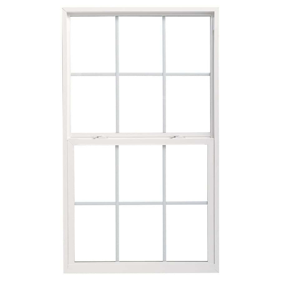 Pella 36X54 ThermaStar by Pella Single Hung Vinyl 10 Series Grid Insulated Glass White with Screen