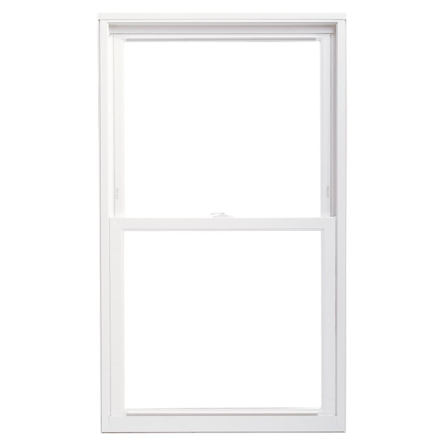 Pella 36X52 ThermaStar by Pella Double Hung Replacement Vinyl 20 Series Clear Insulated Glass White with Screen