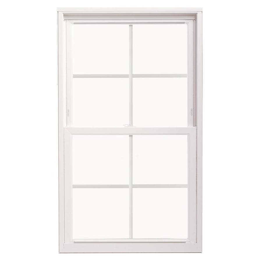 ThermaStar by Pella Vinyl Double Pane Annealed Replacement Double Hung Window (Rough Opening: 24-in x 36-in; Actual: 23.5-in x 35.5-in)