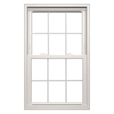 Thermastar By Pella Vinyl Replacement White Exterior Double