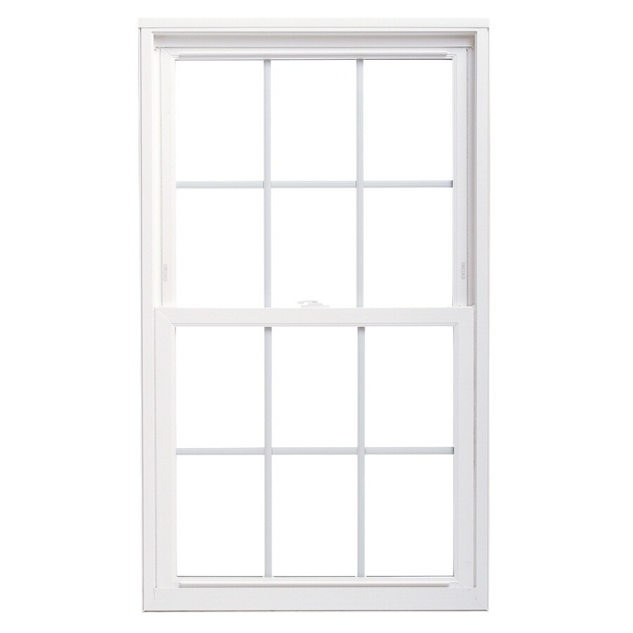 ThermaStar by Pella Vinyl Double Pane Annealed Replacement Double Hung Window (Rough Opening: 36-in x 36-in; Actual: 35.5-in x 35.5-in)