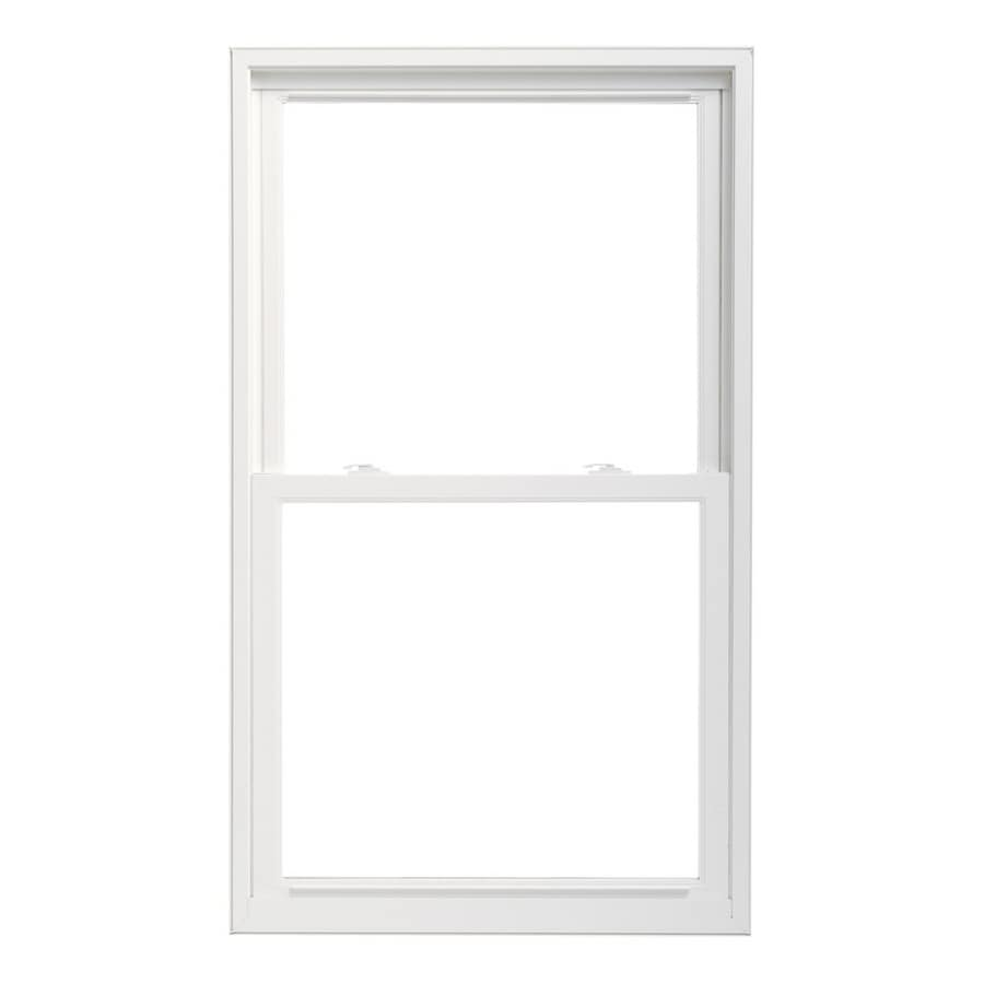 Pella 32X38 ThermaStar by Pella Double Hung High Performance Vinyl 25 Series Clear Insulated Glass White with Screen