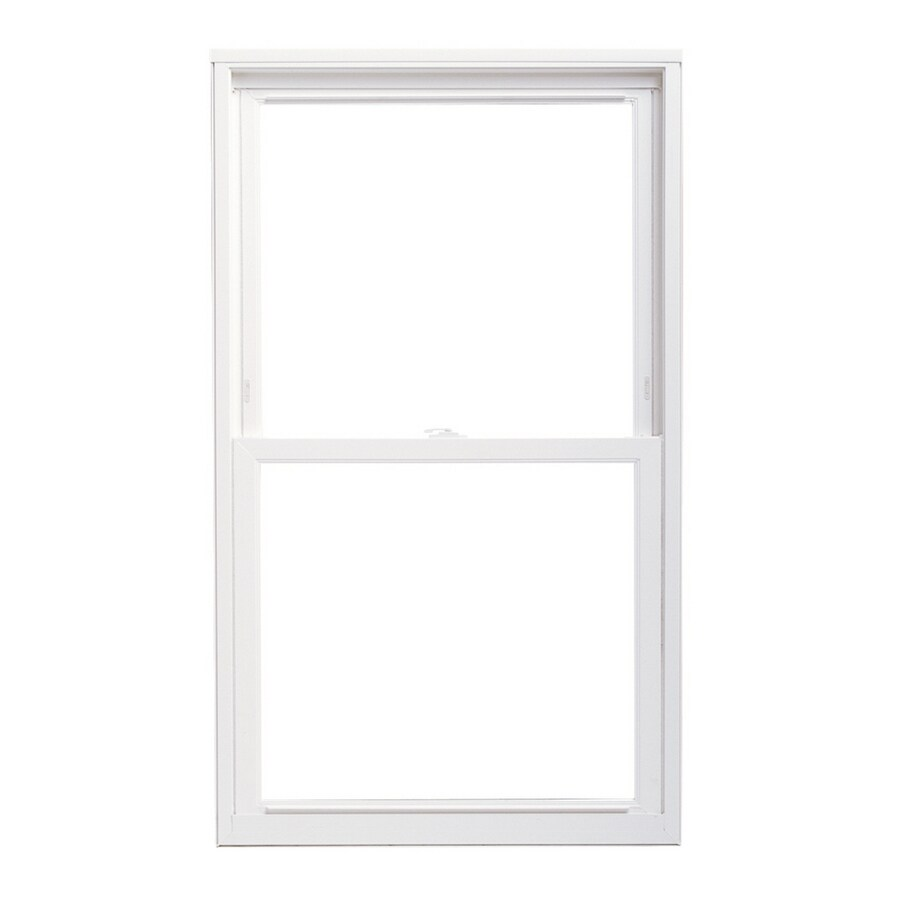 Pella 24X62 ThermaStar by Pella Double Hung Replacement Vinyl 20 Series Clear Insulated Glass White with Screen