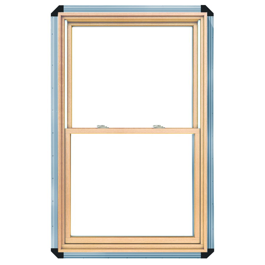 Shop pella 450 wood new construction white double hung for New construction wood windows