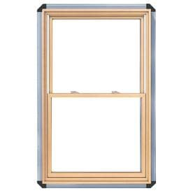 Pella 450 Wood New Construction White Double Hung Window Rough Opening 32 25 In