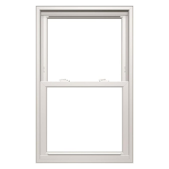 Thermastar By Pella Vinyl Replacement White Exterior Double Hung Window Rough Opening 31 75 In X 53 75 In Actual 31 5 In X 53 5 In In The Double Hung Windows Department At Lowes Com