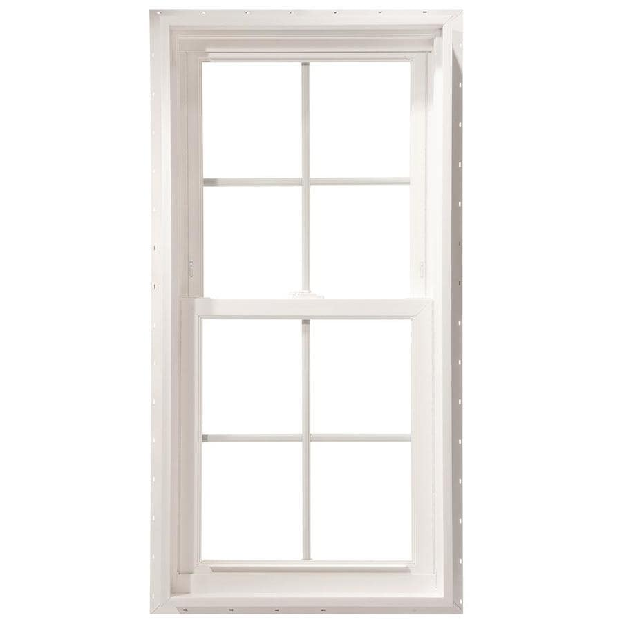 ThermaStar by Pella Vinyl Double Pane Annealed Double Hung Window (Rough Opening: 27.75-in x 37.75-in; Actual: 27.5-in x 37.5-in)