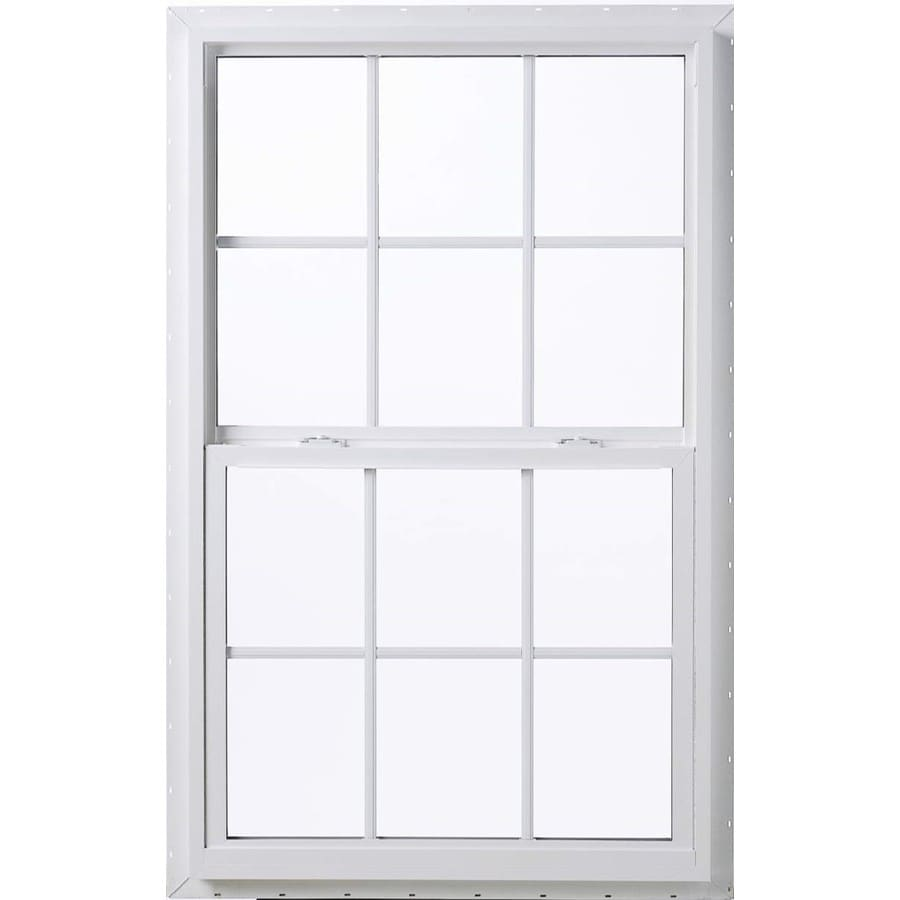 ThermaStar by Pella Vinyl Double Pane Annealed Single Hung Window (Rough Opening: 28-in x 38-in; Actual: 27.5-in x 37.5-in)